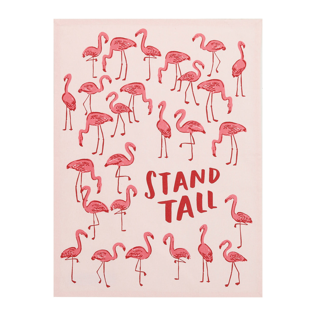 Flamingo Stand Tall Kitchen Towel