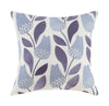 Midnight Garden Blue Flower Embroidered Pillow