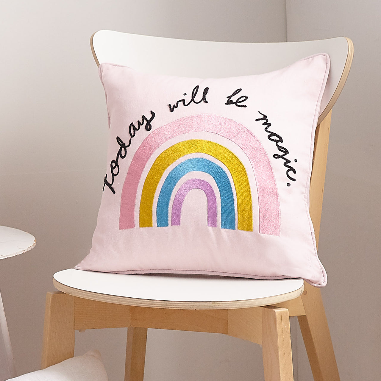 Today Will Be Magic Embroidered Throw Pillow