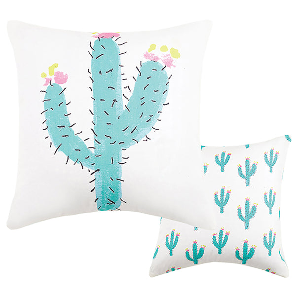 Cacti Canvas Pillow