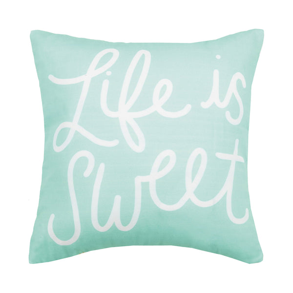 Life Is Sweet Printed Pillow