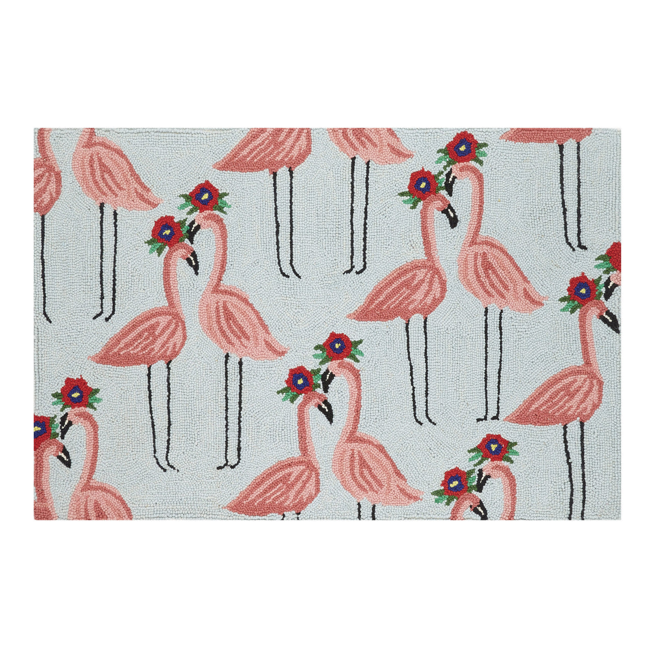 Floral Flamingo Accent Rug