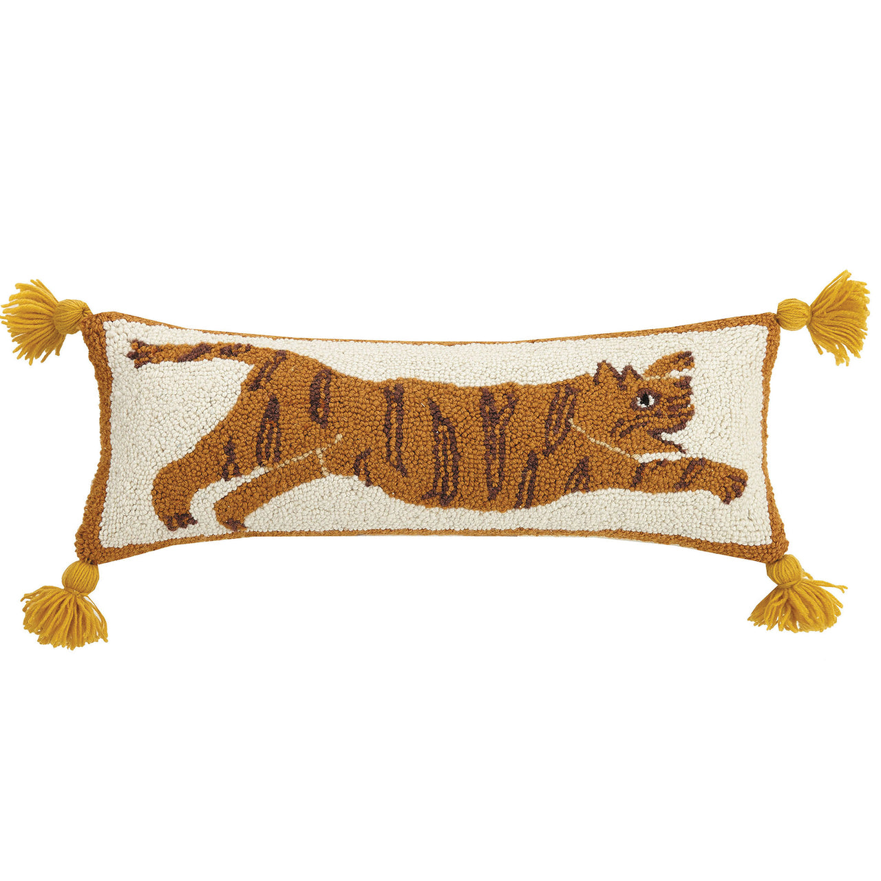 Tiger Pom Pom Throw Pillow