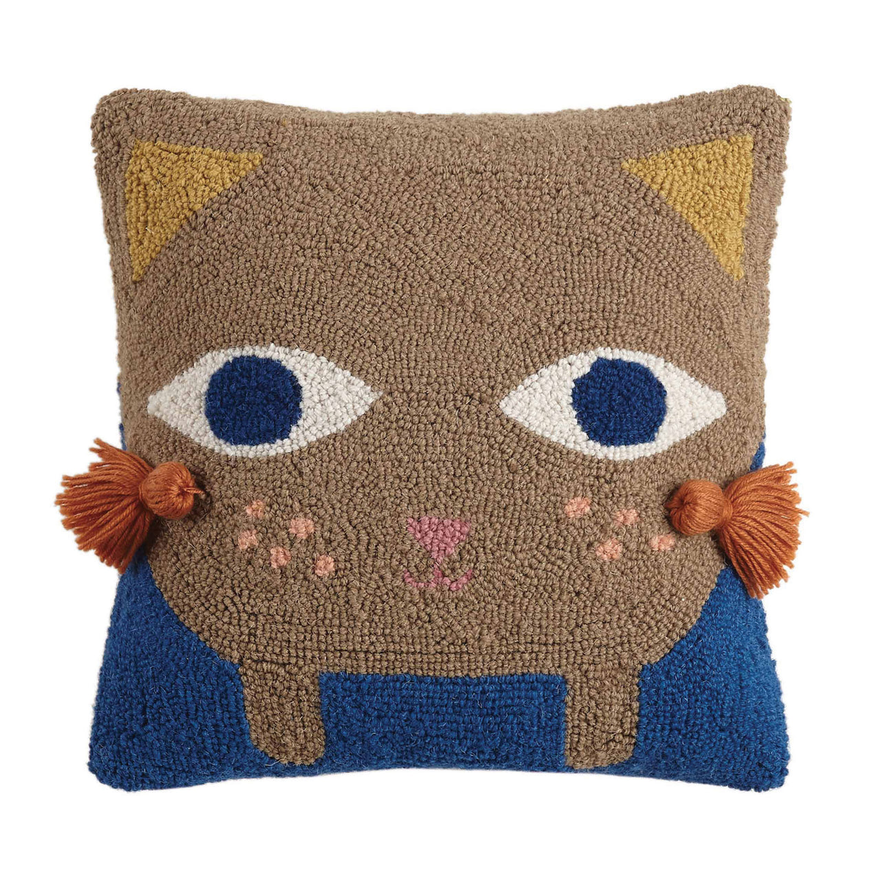Kitteh with Tassels Throw Pillow