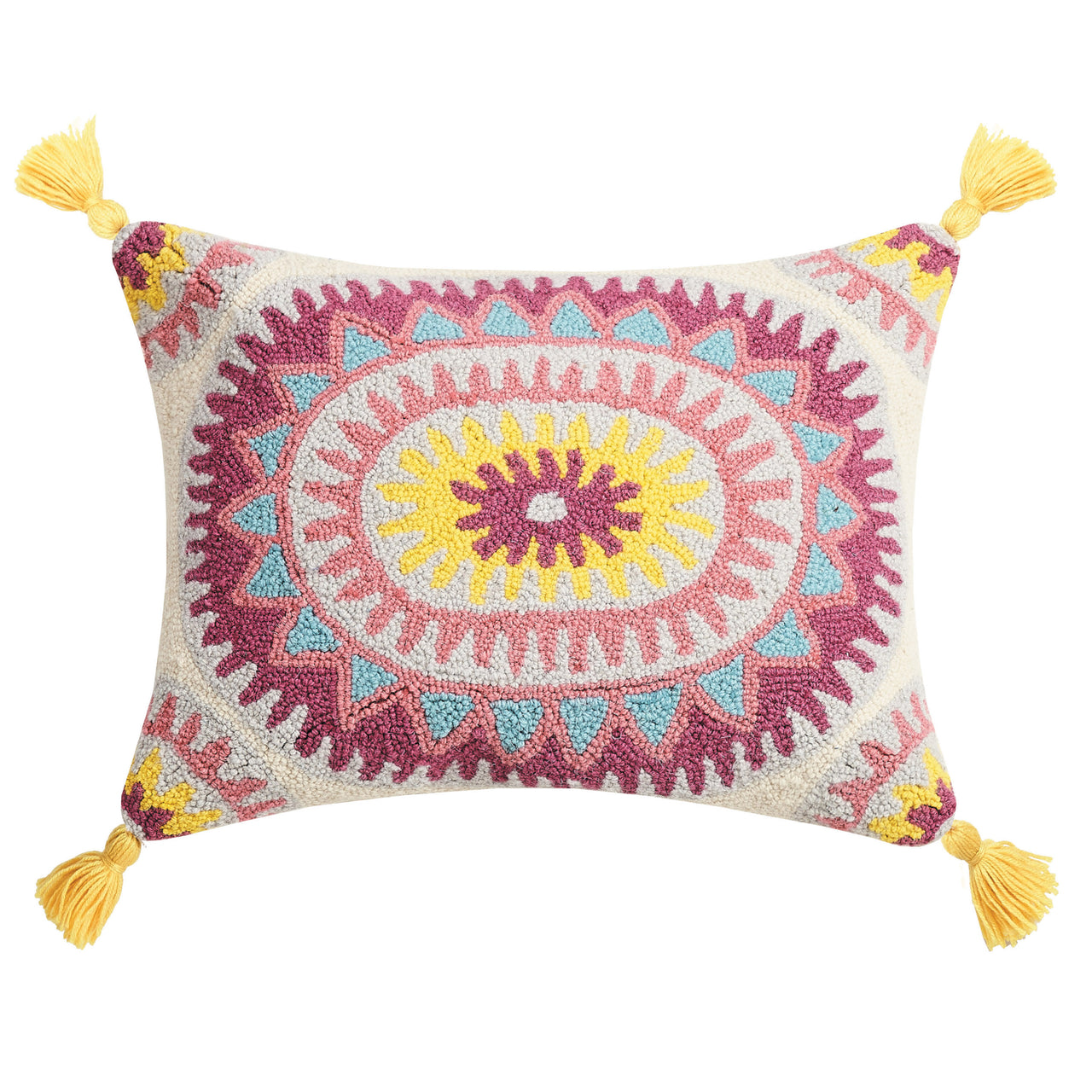 Sunflower with Tassels Throw Pillow