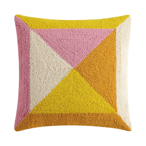 Warm Geometric Square Throw Pillow