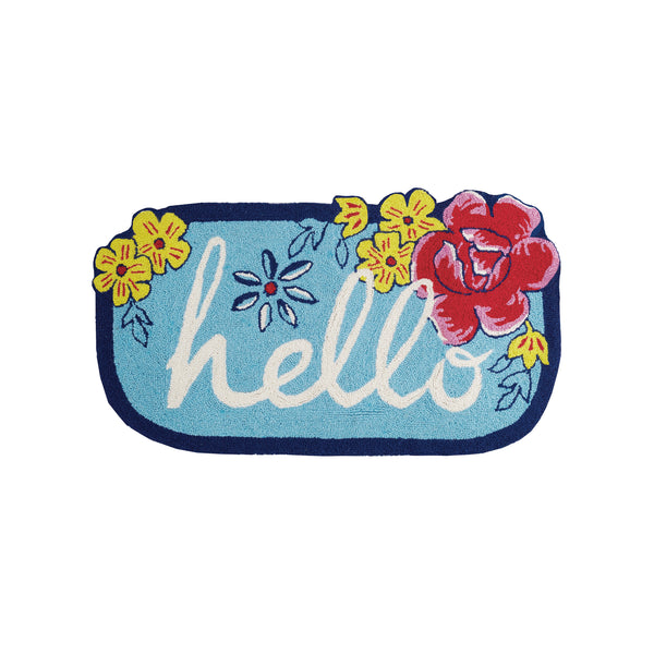 Hello Flower Patch Shape Accent Rug