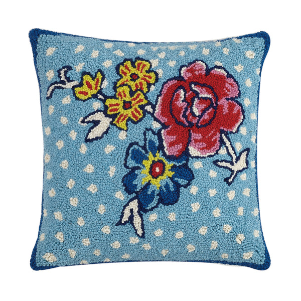 Flower Patch Throw Pillow