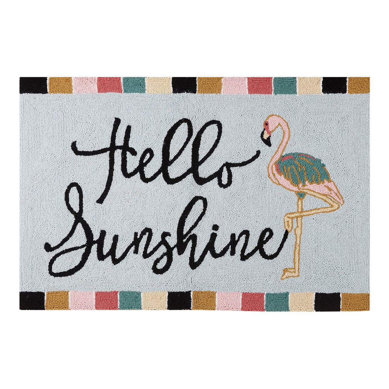 Flamingo Hello Sunshine Hook Rug