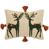 Rudy Rudy with Tassels Wool Hooked Throw Pillow
