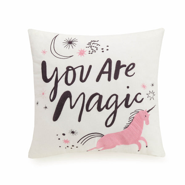 Magic Embroidered Throw Pillow