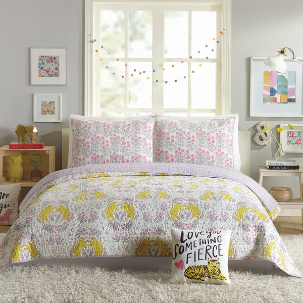 Tiger Flower Quilt Set