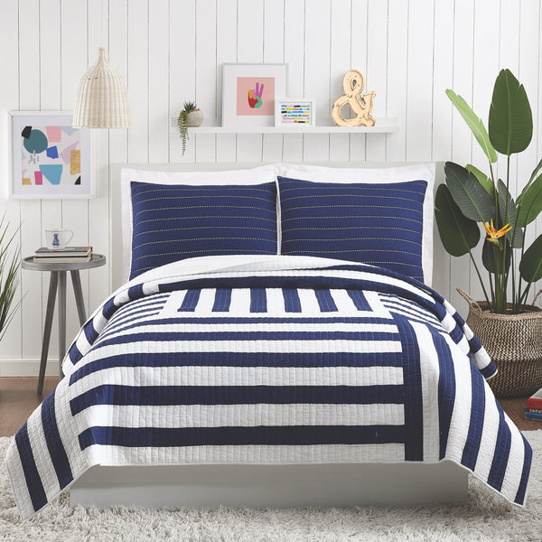 Block Stripe Quilt Set