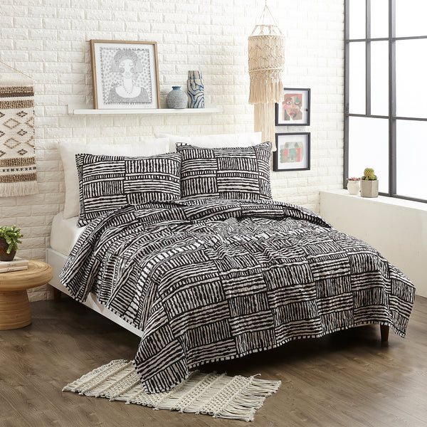 Piazza Stripes Quilt Set