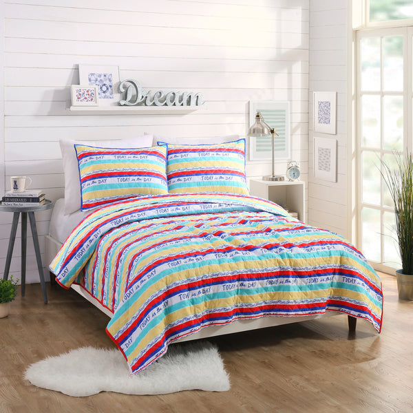 Today Stripe Quilt Set