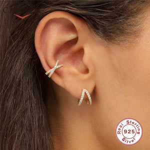 Ladies Ear cuff Stylish - 925 Sterling Silver Ear Cuff  For Women