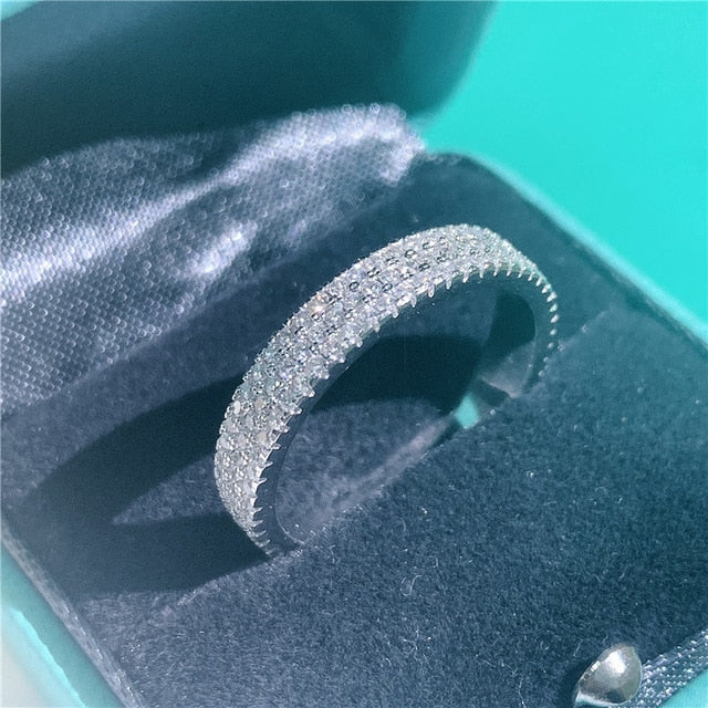 Vecalon : Promise Rings -  Real 925 Sterling silver Rings for women