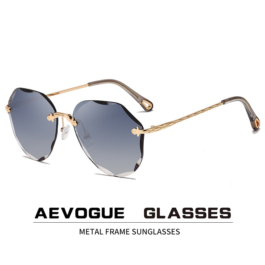AEVOGUE - Rimless Diamond cutting Lens Sunglasses For Women ladies