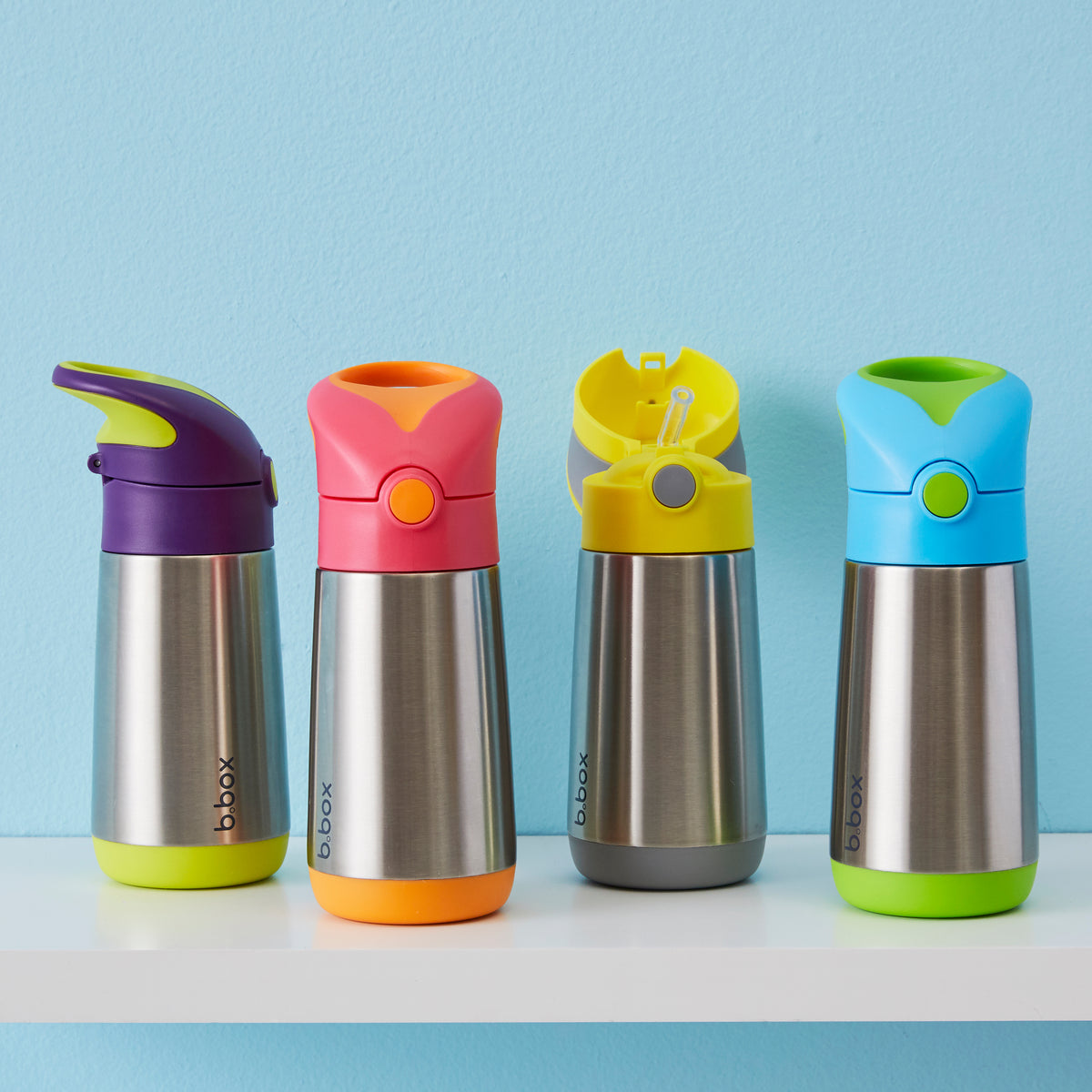 b.box Insulated Drink Bottle - Lemon Sherbert-Drink Bottle-Lunchbox Mini