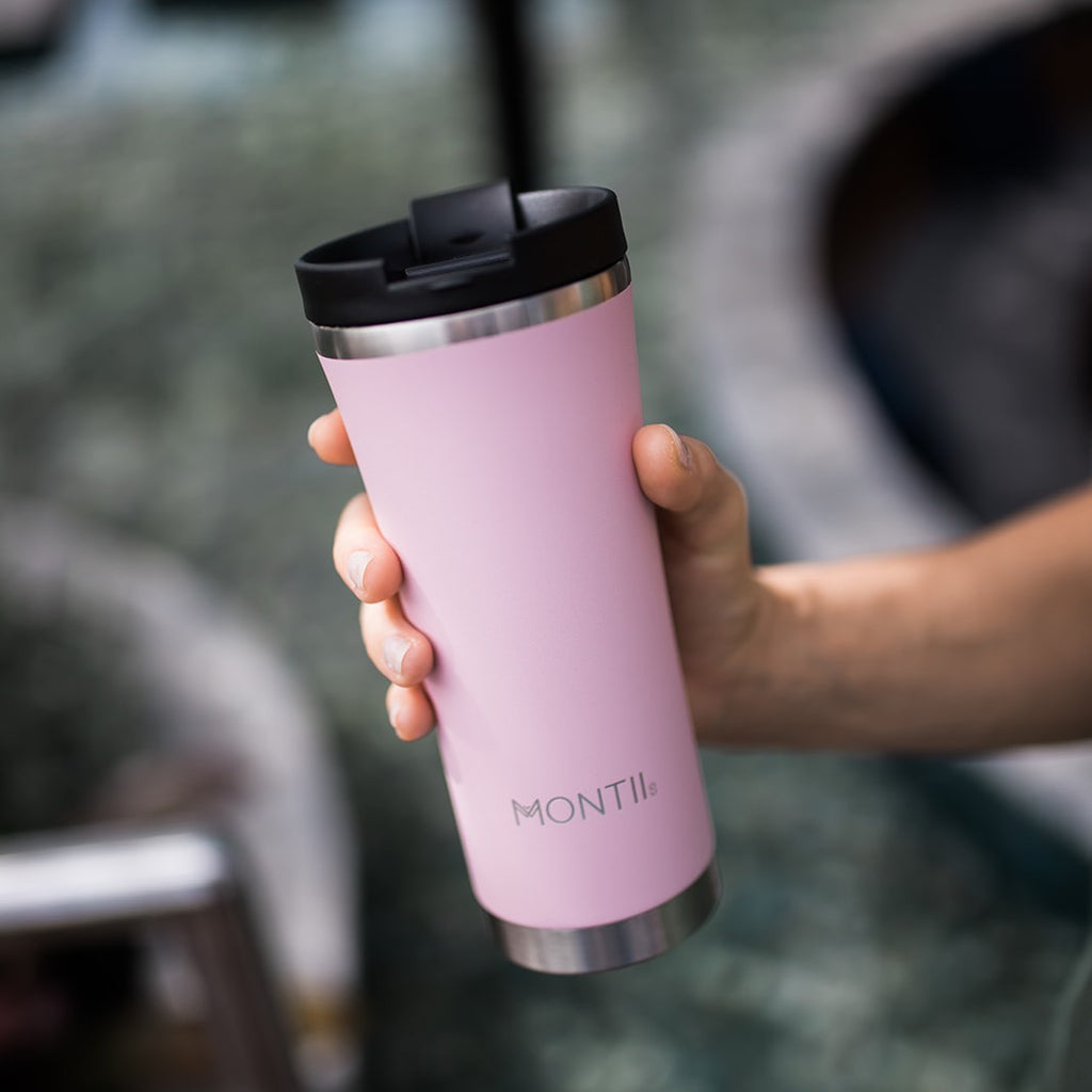 MontiiCo Hot Stuff Reusable Coffee Cup - Pink