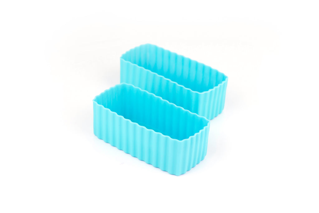 Bento Cups Rectangle - Light Blue