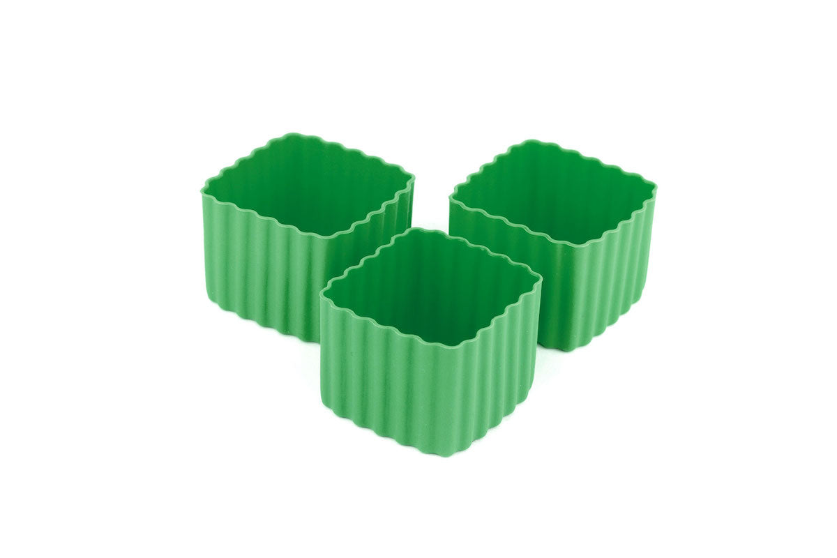 Bento Cups Square - Medium Green - NEW