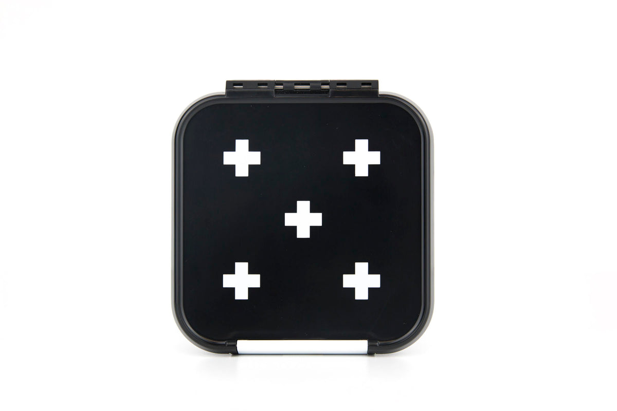Bento Two - White Cross-Lunchbox-Lunchbox Mini