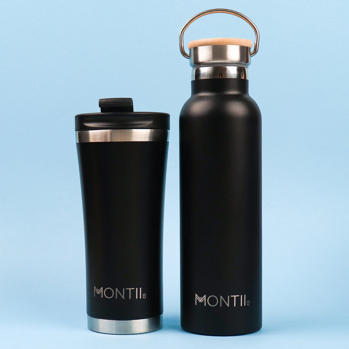 MontiiCo Original Drink Bottle - Black-Drink Bottle-Lunchbox Mini