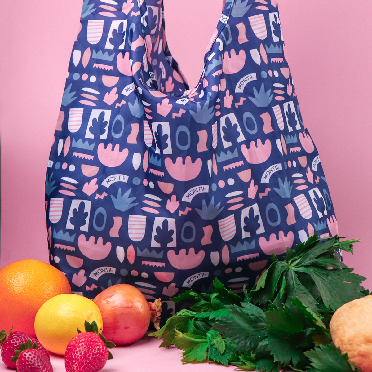 MontiiCo Shopper Bag Set - Bloom-Lunchbox Mini