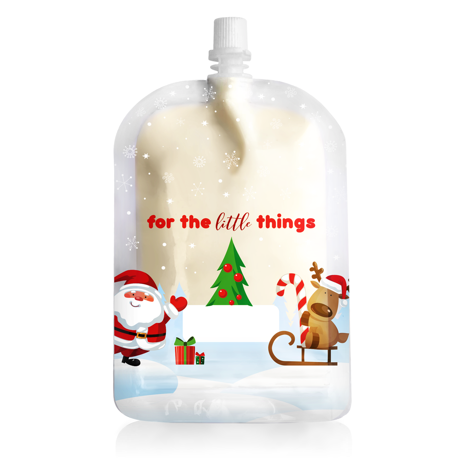 Sinchies Reusable Food Pouches - 150mL Christmas Print -10  Pack