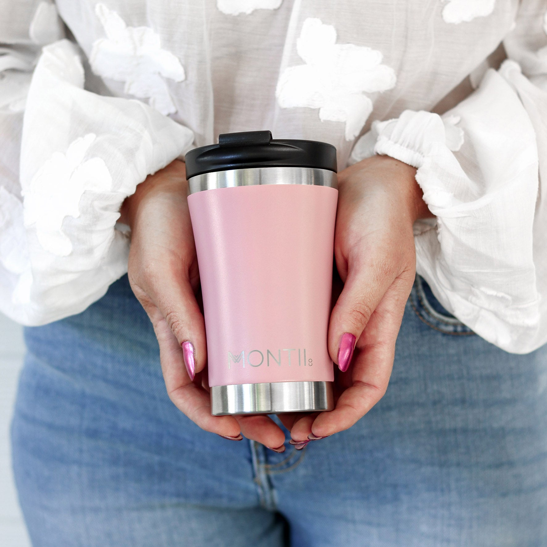 MontiiCo Regular Coffee Cup - Dusty Pink-Drink Bottle-Lunchbox Mini