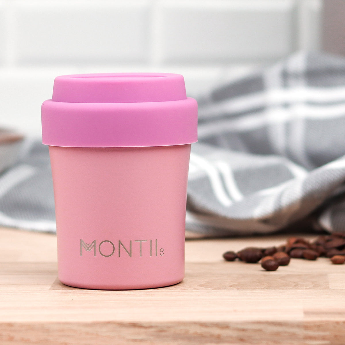 MontiiCo Mini Coffee Cup - Dusty Pink-Drink Bottle-Lunchbox Mini