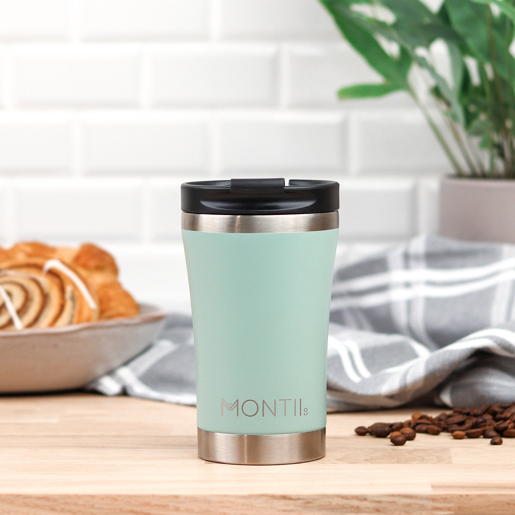 MontiiCo Regular Coffee Cup - Eucalyptus-Drink Bottle-Lunchbox Mini