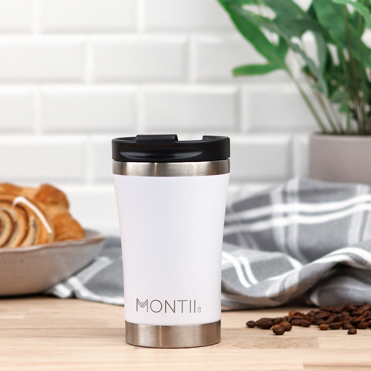 MontiiCo Regular Coffee Cup - White-Drink Bottle-Lunchbox Mini