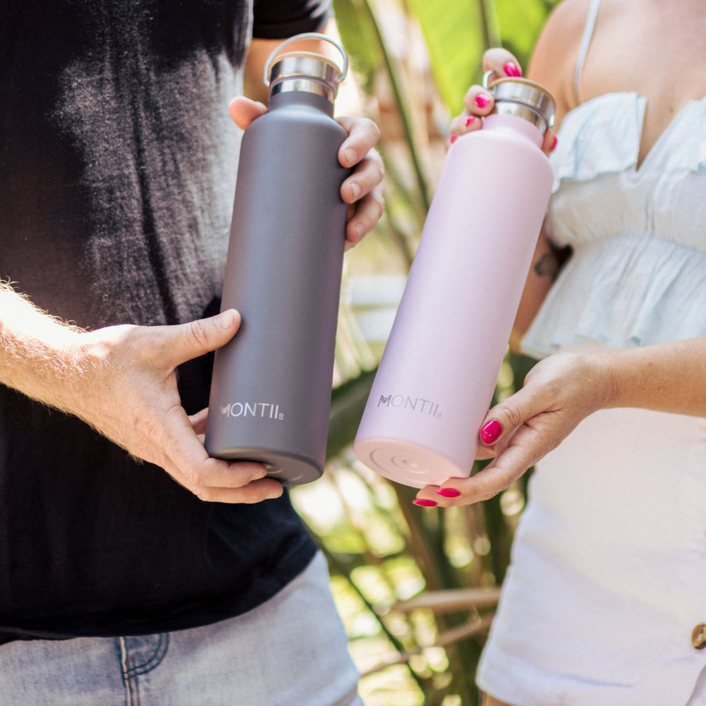 MontiiCo Mega Grey Insulated Drink Bottle - 1L