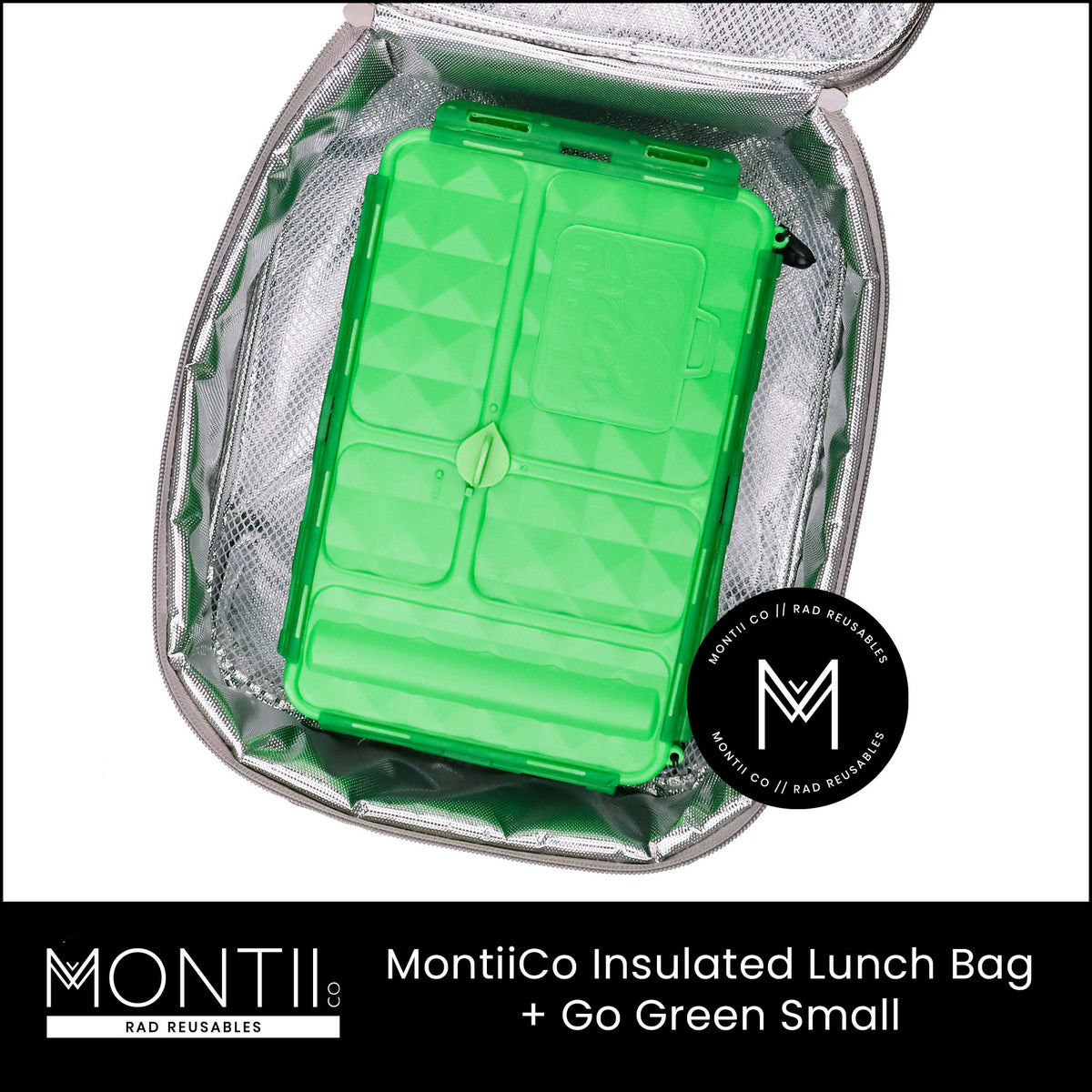 MontiiCo Insulated Lunch Bag - Boho Palms