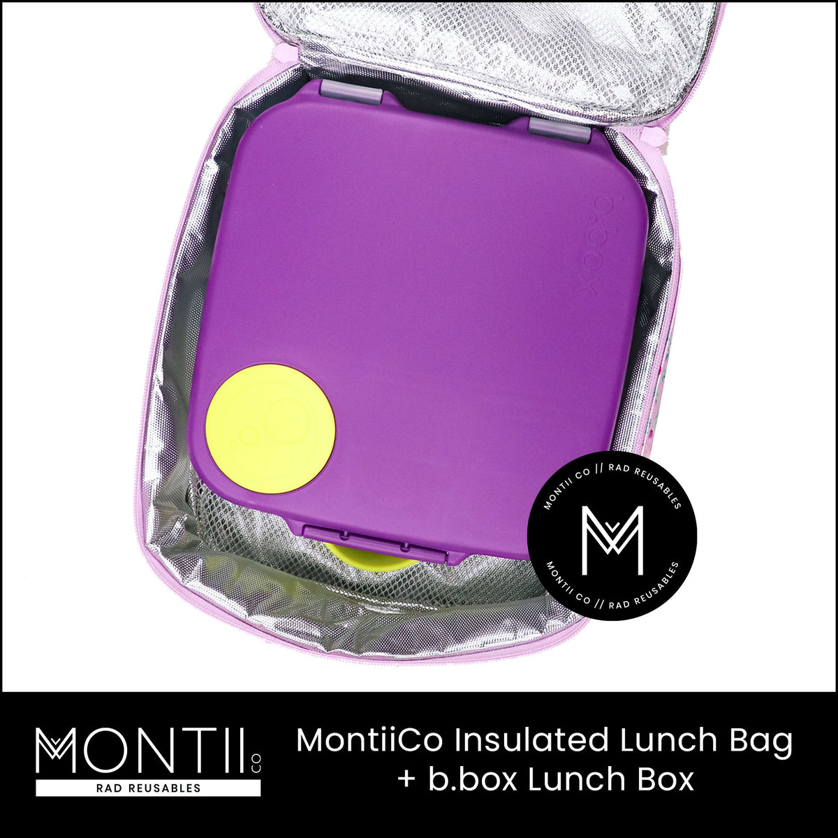 MontiiCo Insulated Lunch Bag - Moss