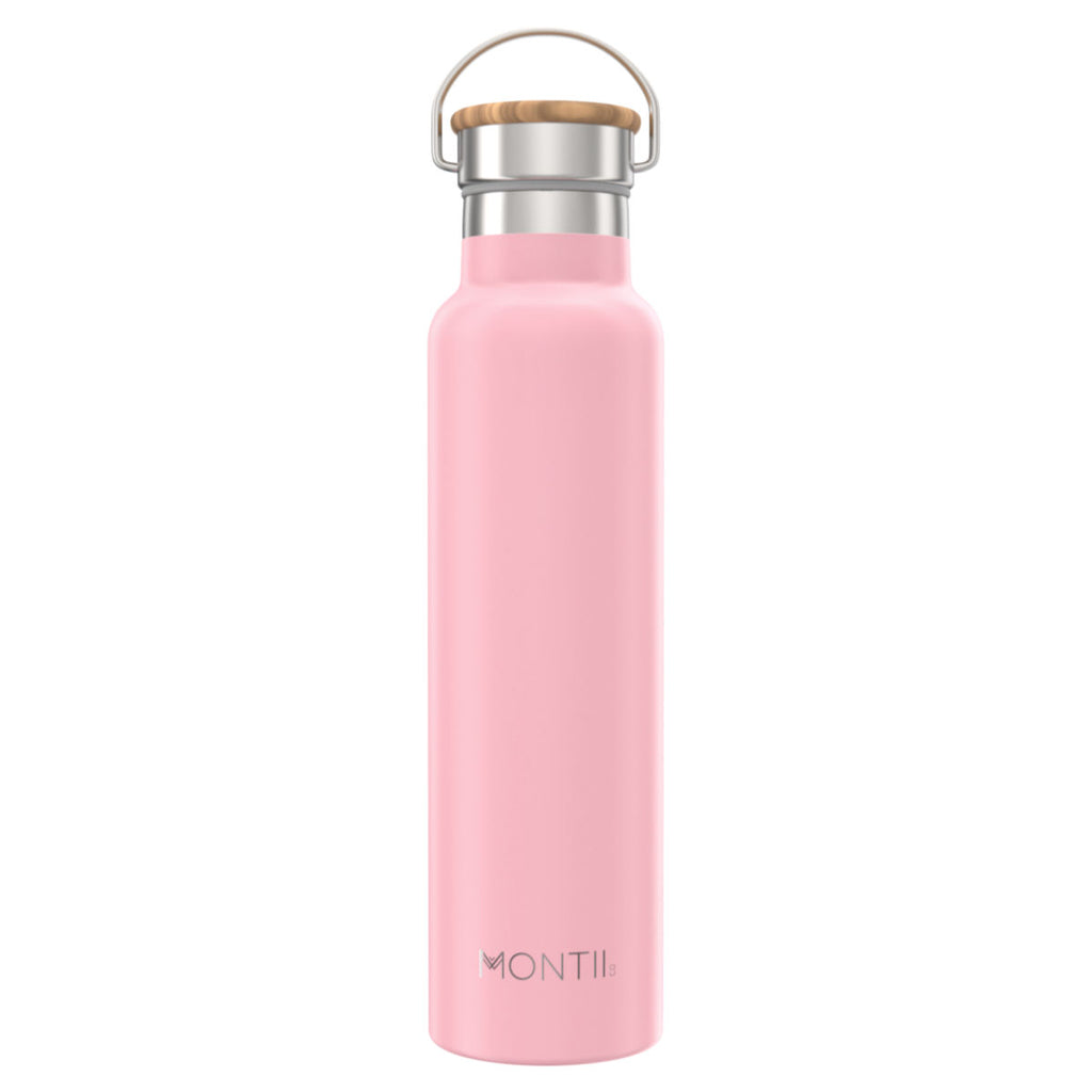 MontiiCo Mega Dusty Pink Insulated Drink Bottle - 1L