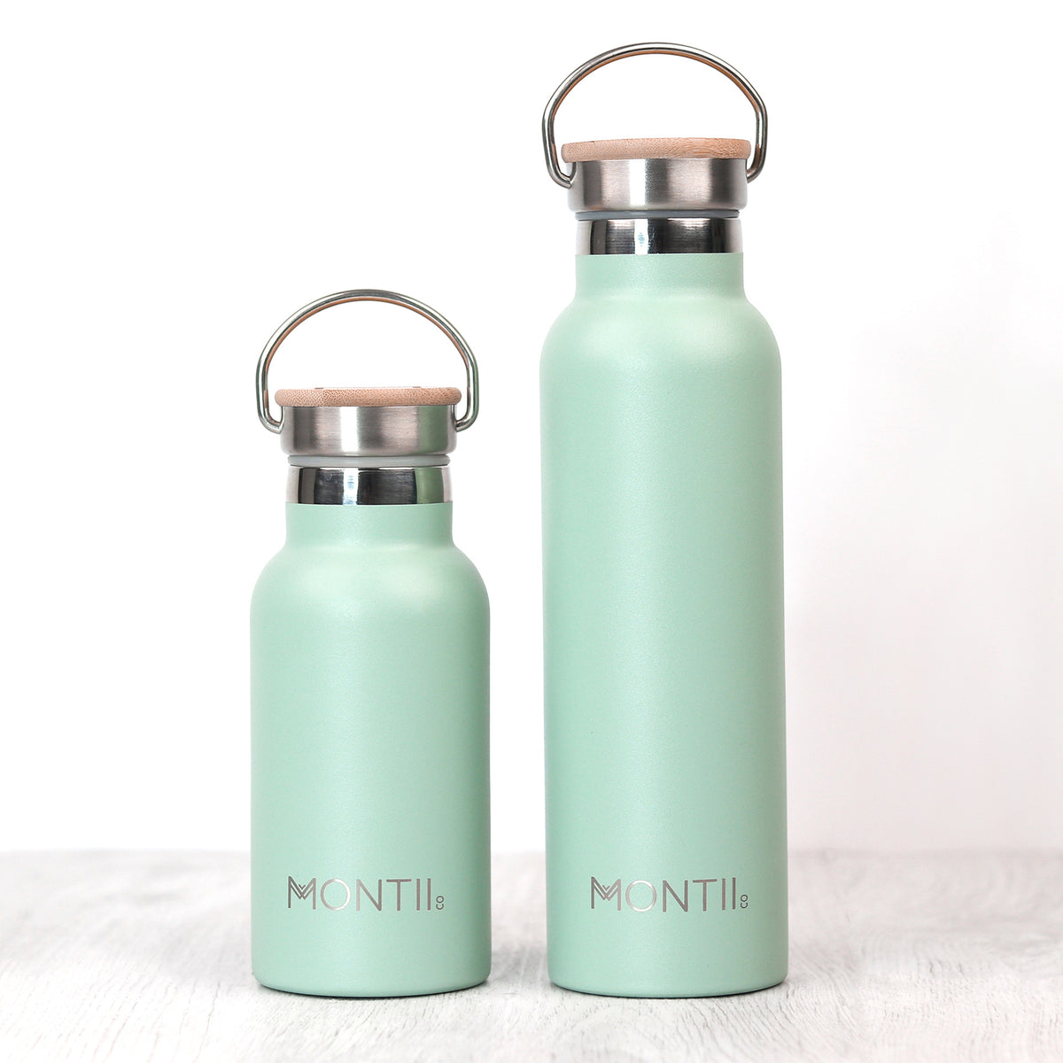 MontiiCo Original Drink Bottle - Eucalyptus-Drink Bottle-Lunchbox Mini