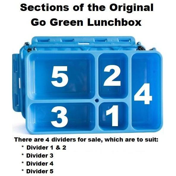 Go Green Divider Section 3 - Blue-Accessories-Lunchbox Mini