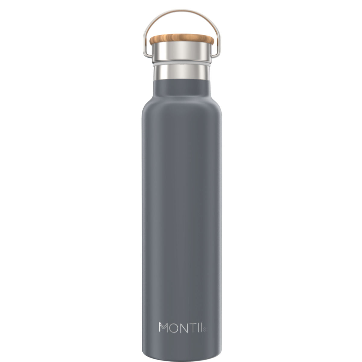 MontiiCo Mega Grey Insulated Drink Bottle - 1L-Lunchbox Mini