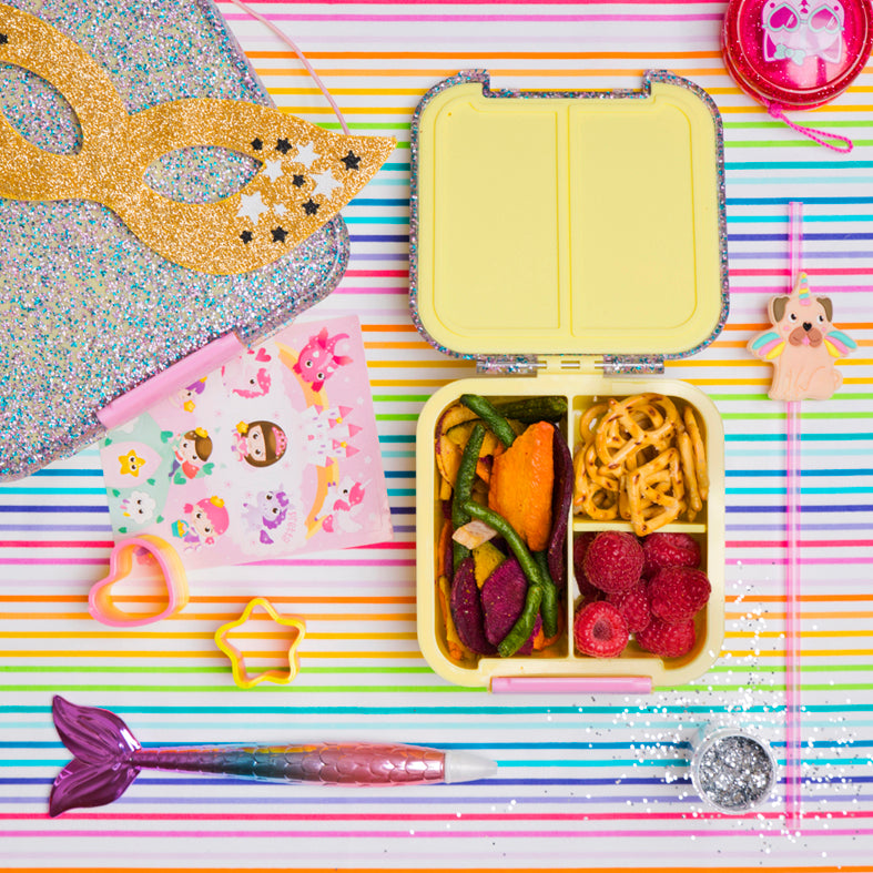 Bento Five - Yellow Glitter