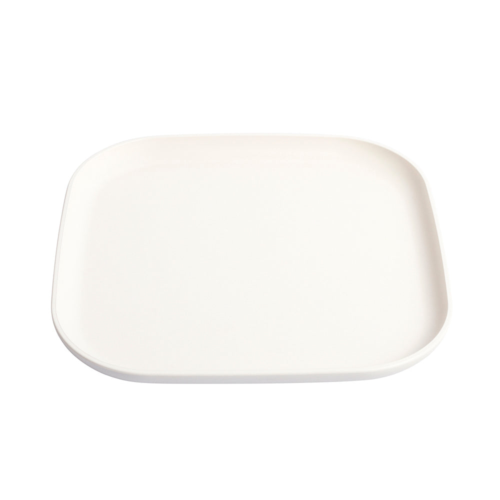 Little Lunchbox Co Bamboo Plate – White (Individual)