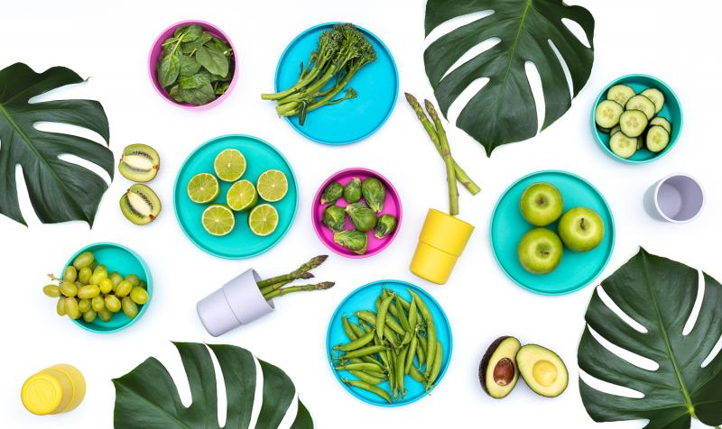 bobo&boo Plant-Based Dinnerware Set - Tropical-Lunchbox Mini
