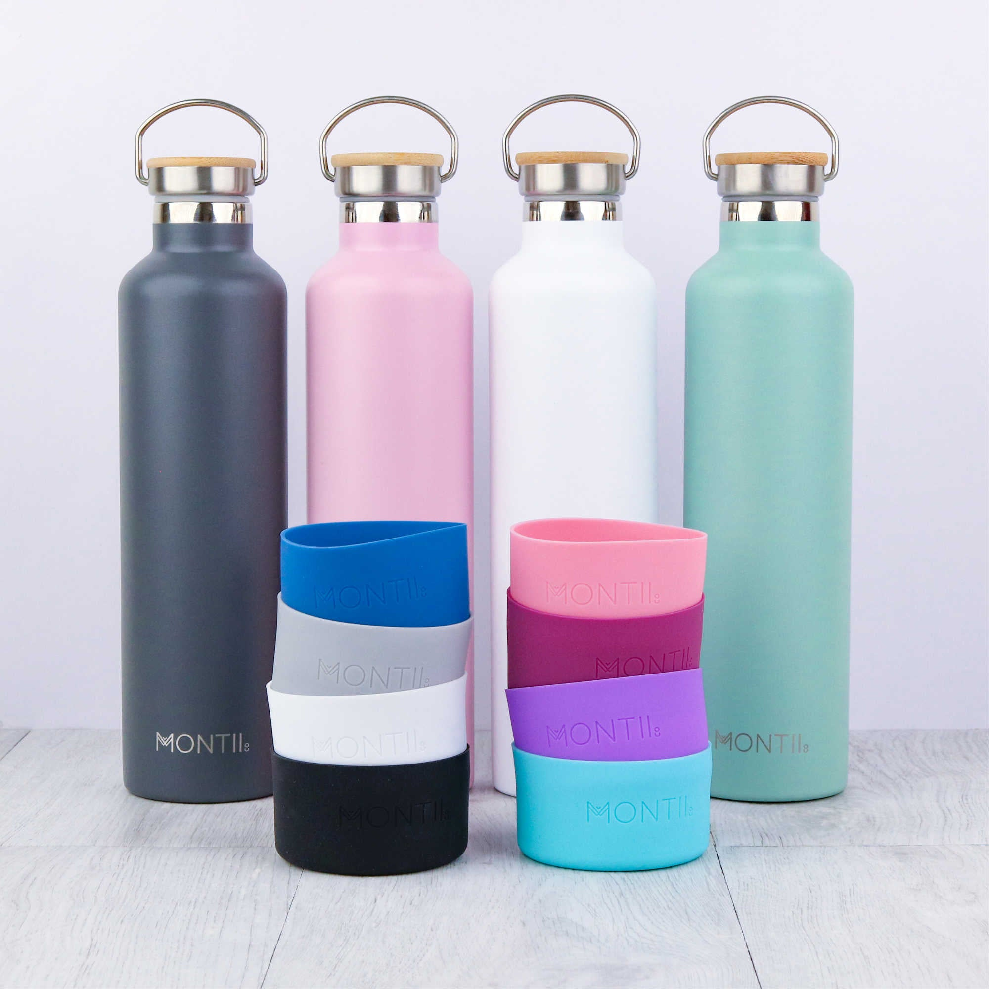 MontiiCo Mega Bumper - Cloudy Grey - Pre-Orders OPEN!-Drink Bottle-Lunchbox Mini