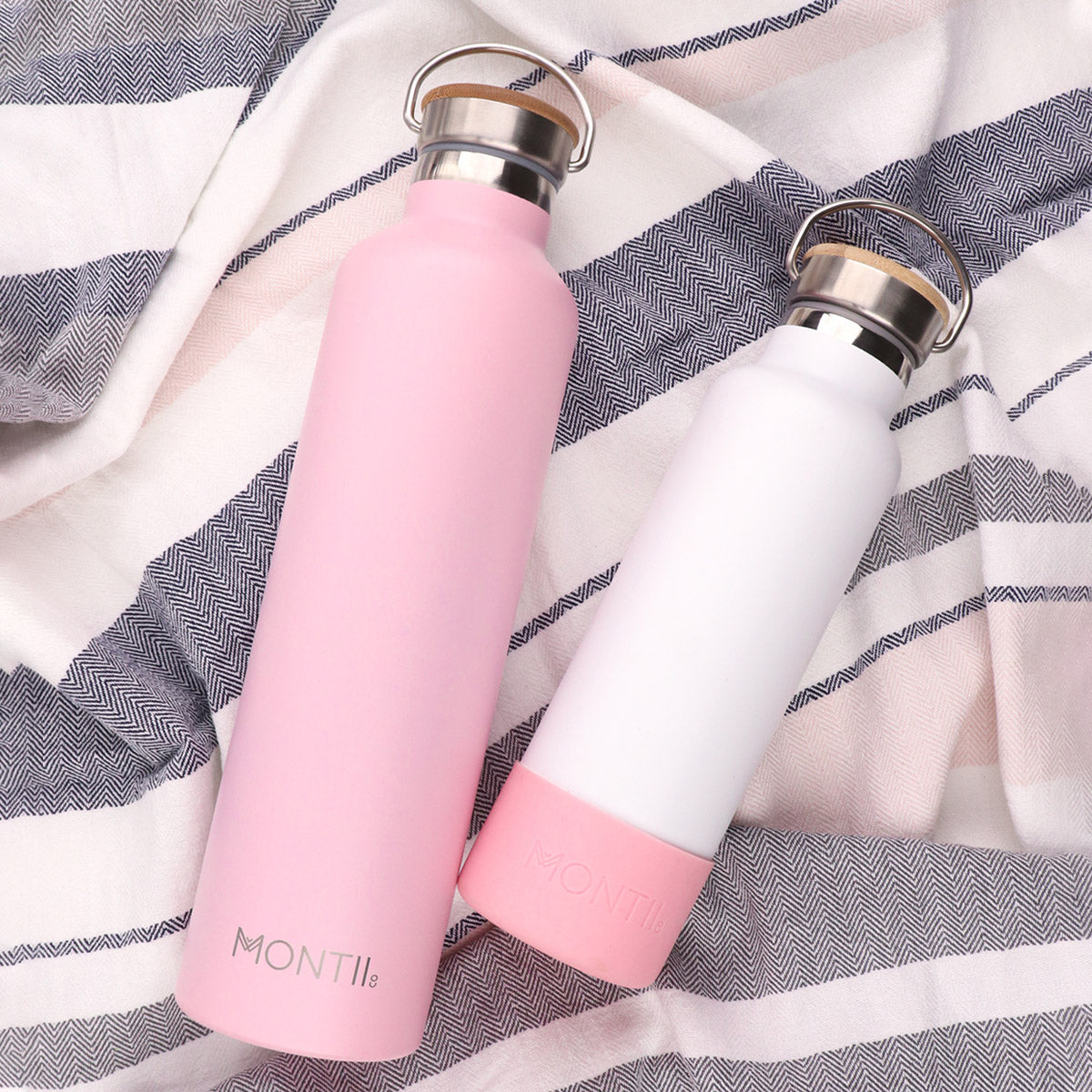 MontiiCo Mega Dusty Pink Insulated Drink Bottle - 1L-Lunchbox Mini
