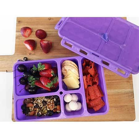 Go Green Snack Box - Pink-Lunchbox-Lunchbox Mini