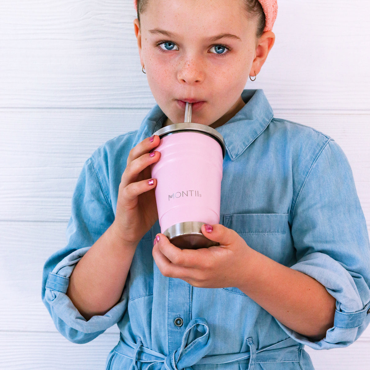 MontiiCo Mini Smoothie Cup - Dusty Pink-Drink Bottle-Lunchbox Mini