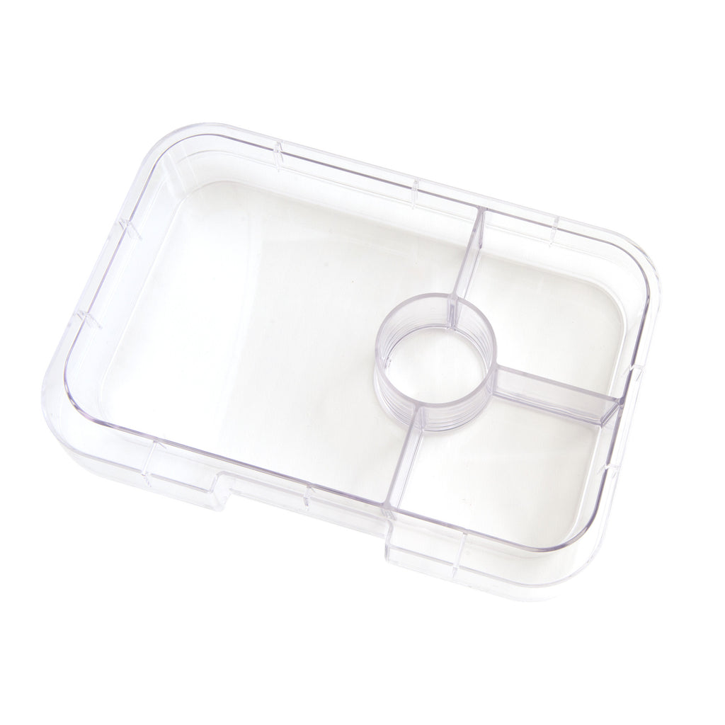 Yumbox Tapas Trays - 4 Compartment, Clear