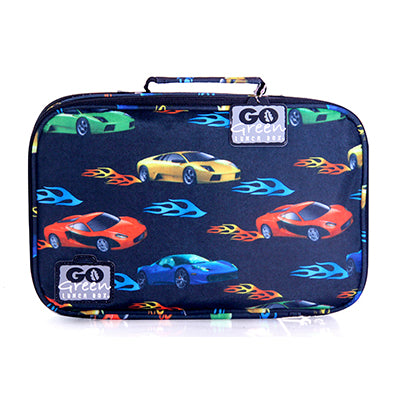 Go Green Original Lunch Box Set - Fast Flames Car